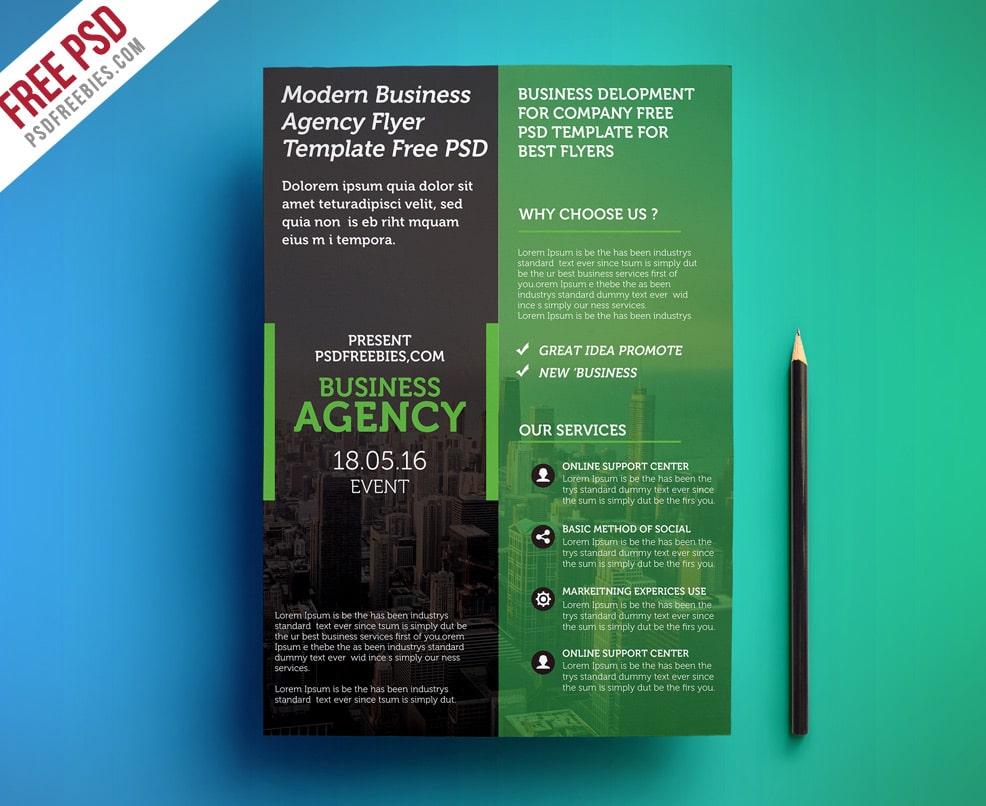 Modern Business Agency Flyer Template PSD