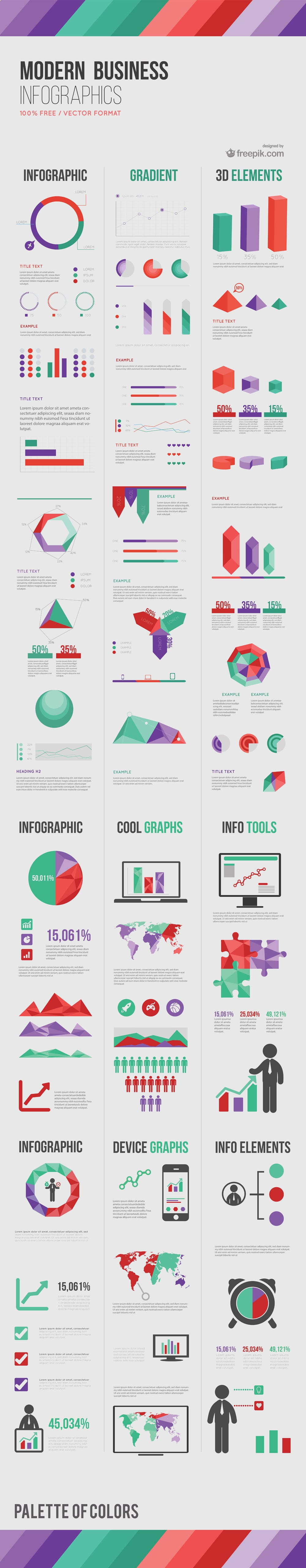 Modern Business Infographic Elements
