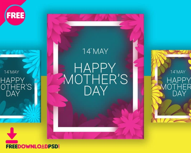 Mothers Day Free Flyer Template PSD