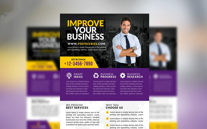 Best free flyer templates psd css author for Free business flyer templates