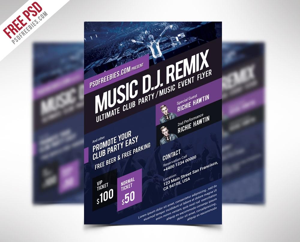 Music Event Flyer Template PSD