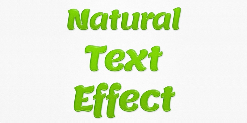 Natural Text Effect PSD