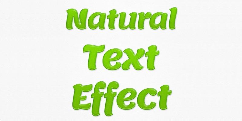 Natural Text Effect PSD