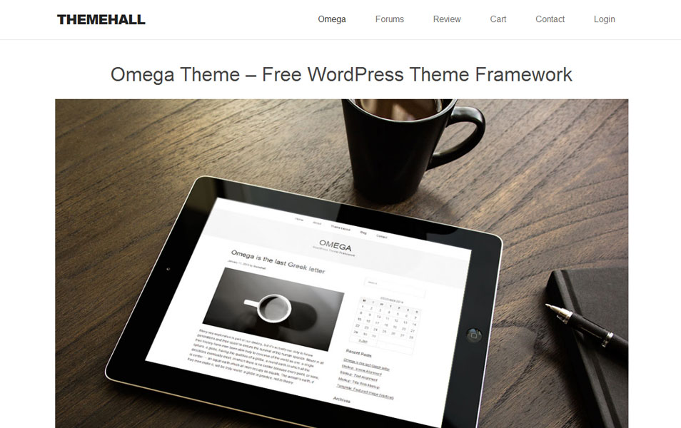 Omega Theme – Free WordPress Theme Framework