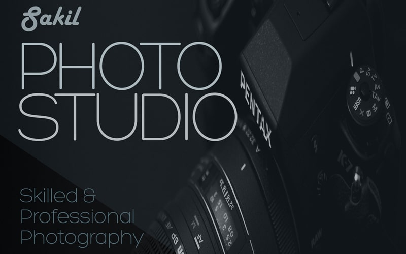 Photo Studio Flyer PSD