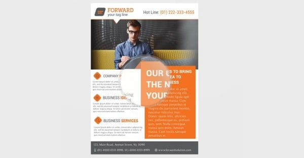 Professional Corporate Flyer Template PSD
