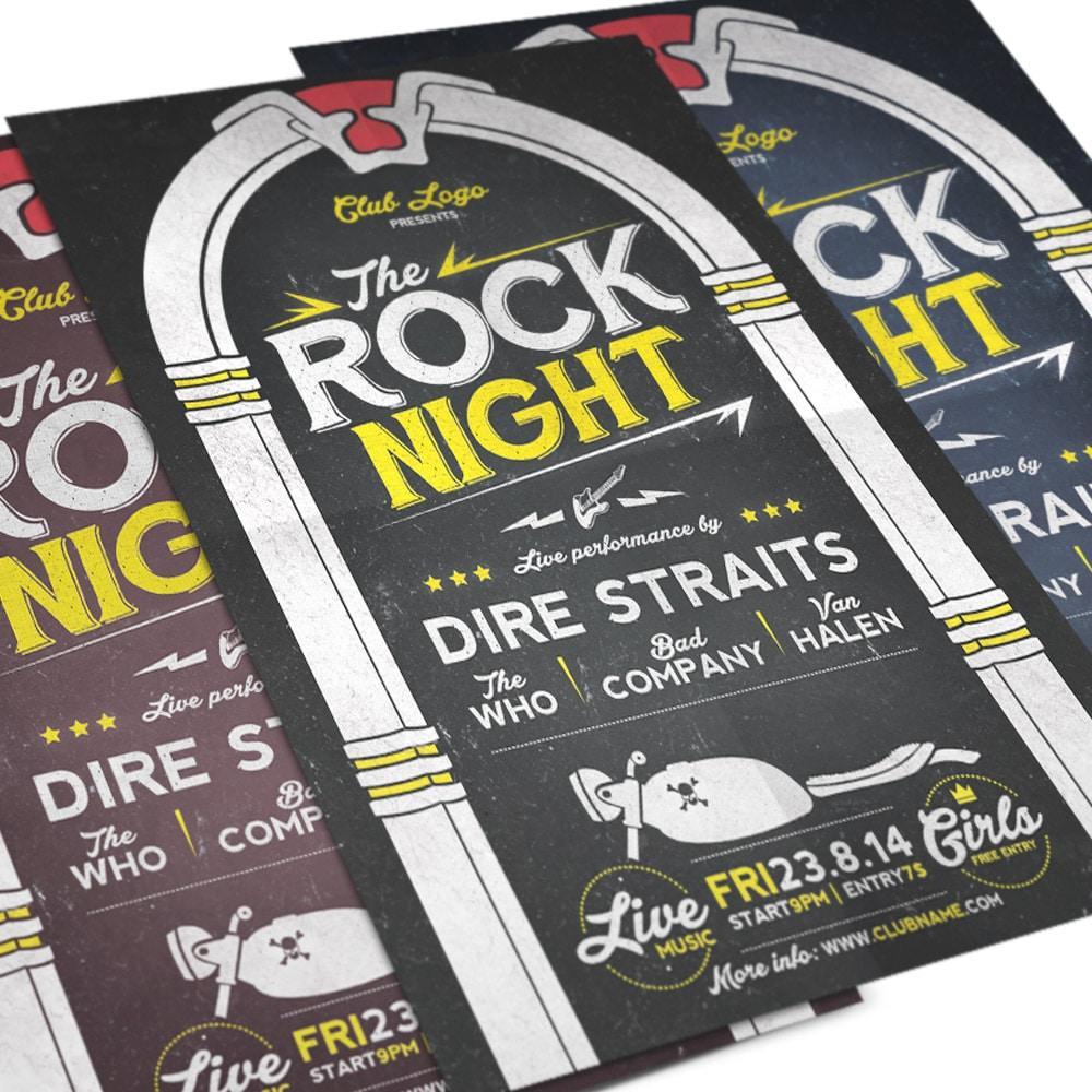 Rock Night Flyer Template PSD