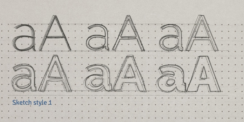 Sketch Text Effect PSD