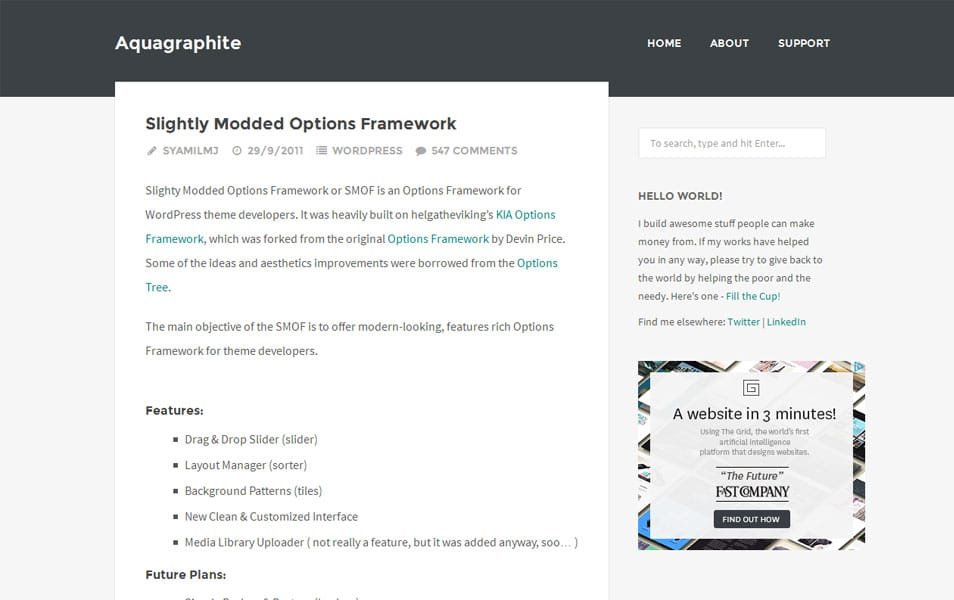 Slightly Modded Options Framework
