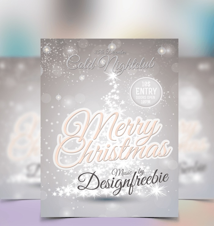 Snowy Christmas Free Flyer Template PSD
