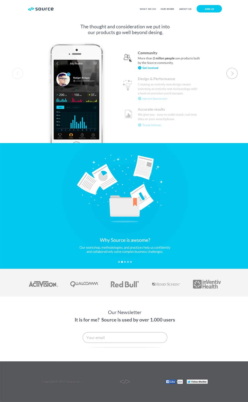 Source Landing Page PSD