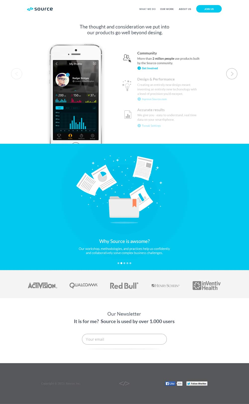 Source - Landing Page PSD
