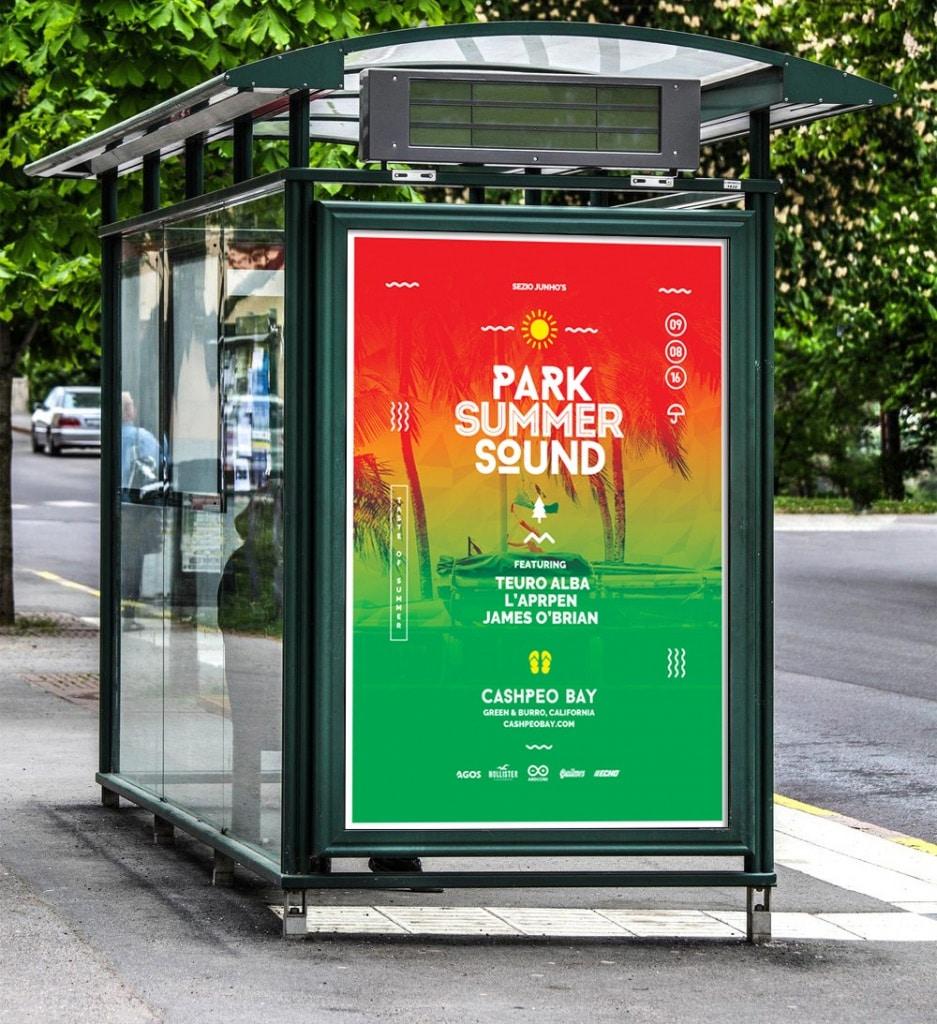Summer Sound Poster Template PSD