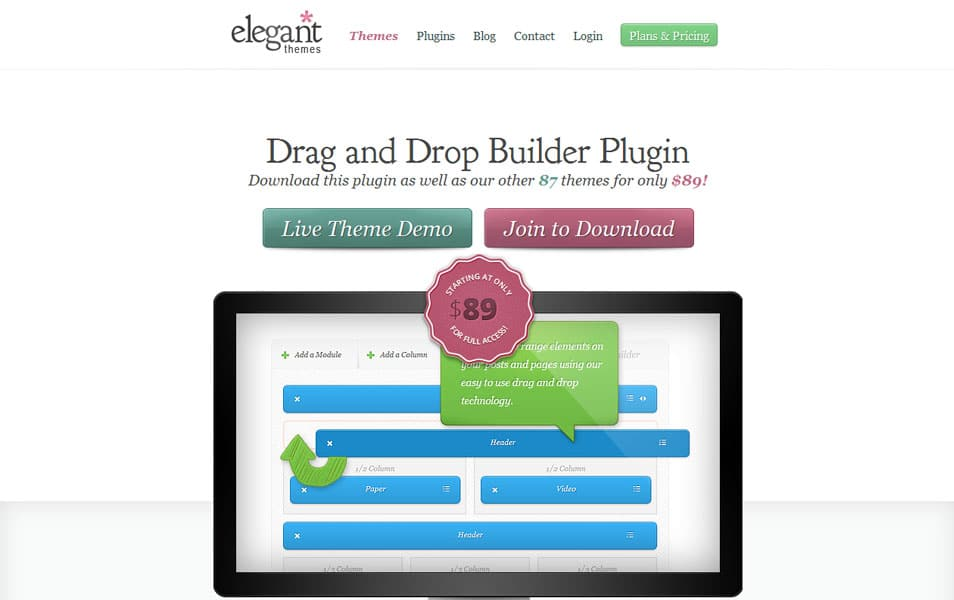 The Elegant Themes Builder