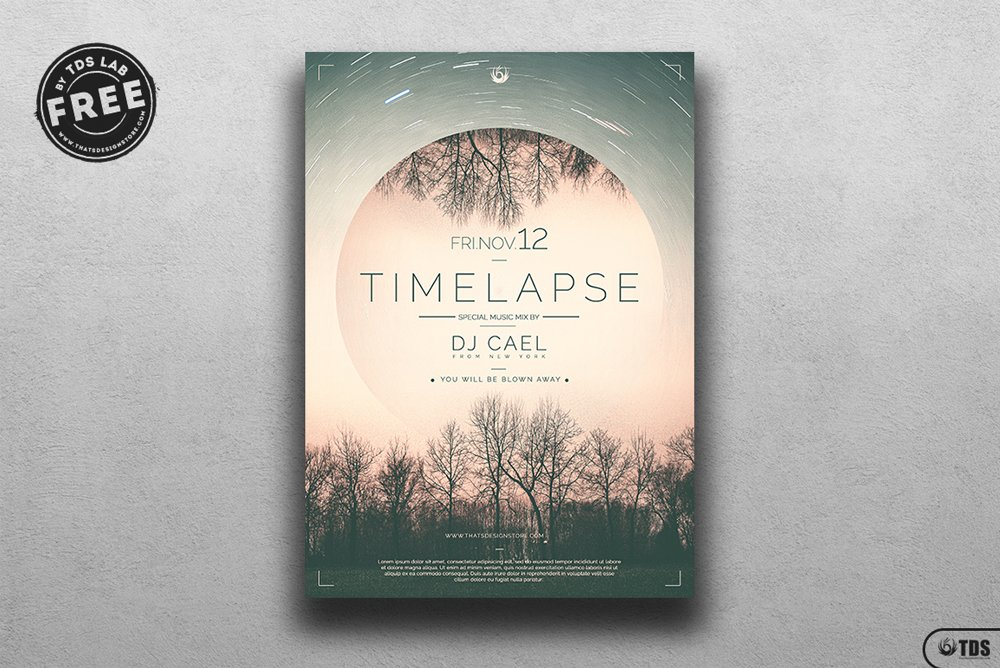 Time Lapse Flyer Template PSD