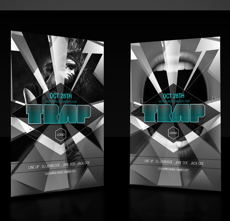 Trap - Free Party Flyer Template PSD