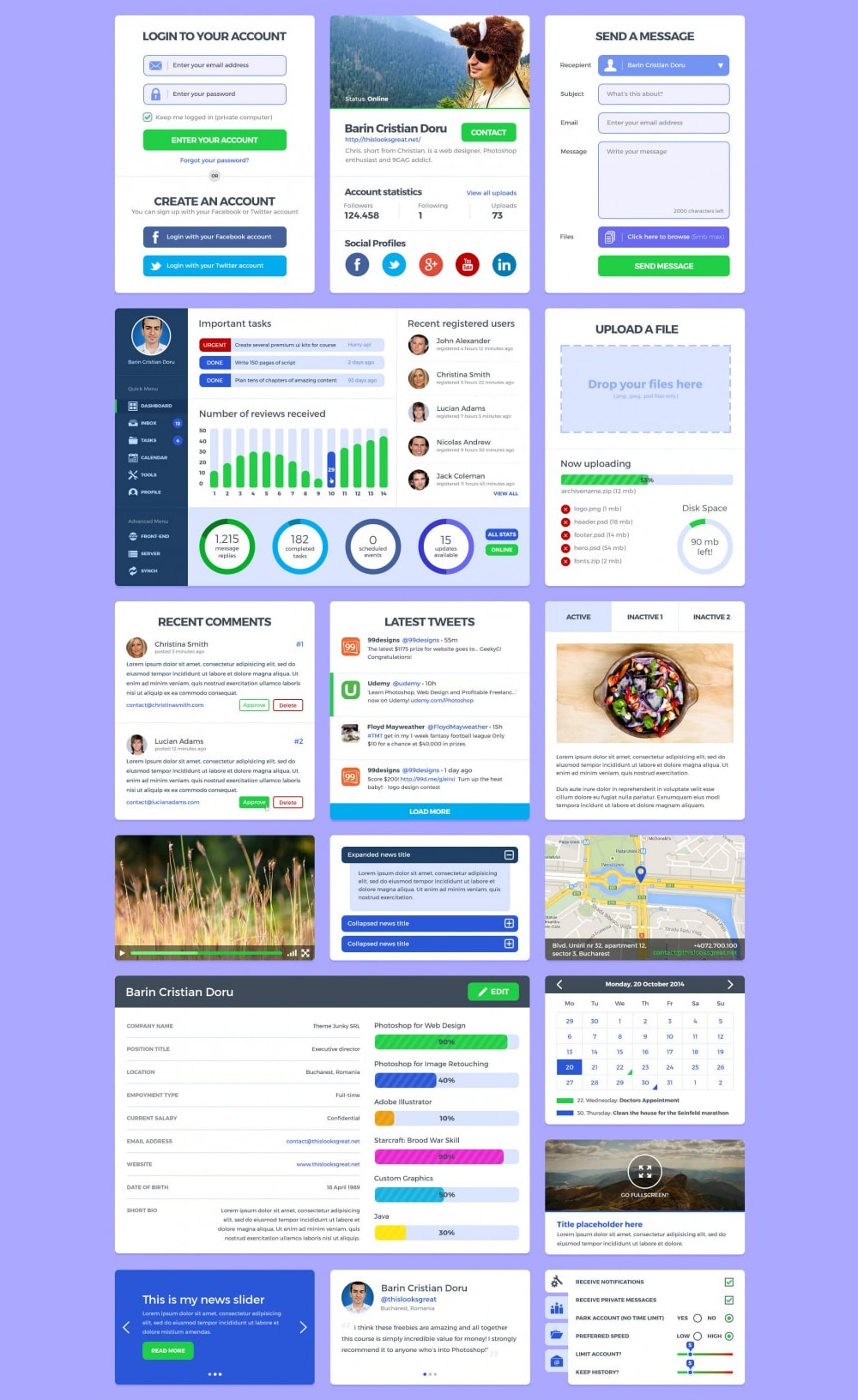 User Interface Kit PSD