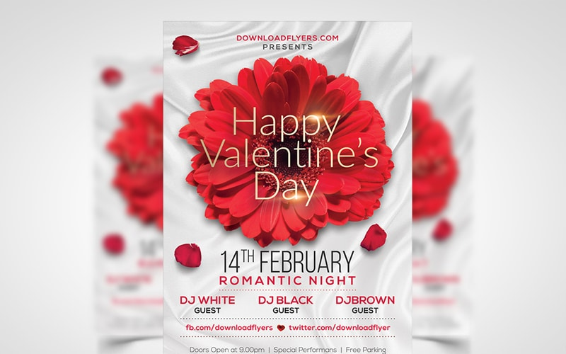 Valentines Day Party Flyer PSD