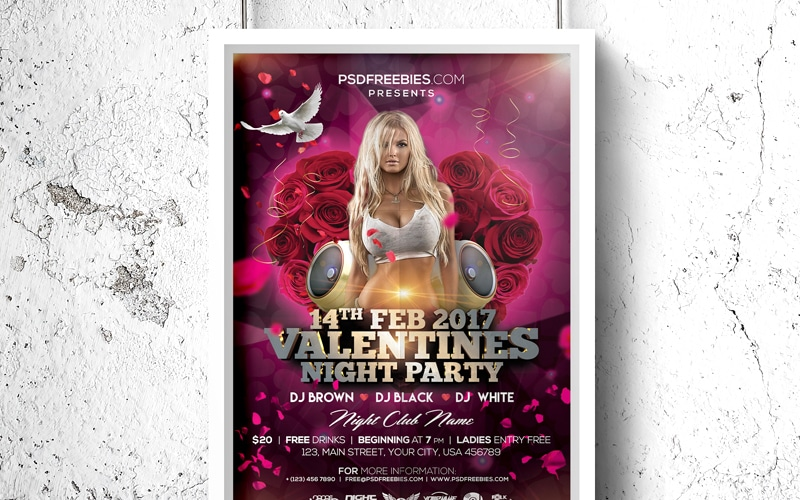 Valentines-Day-Party-Flyer-PSD