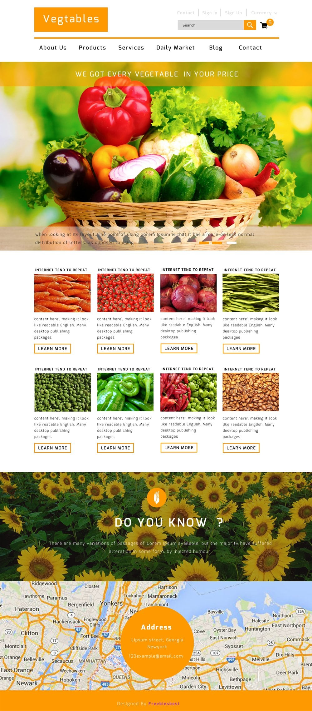 Vegetables-Free-Flat-E-commerce-Web-Template-PSD