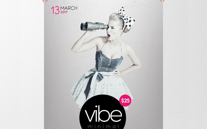 Vibe Minimal Free Flyer Template PSD
