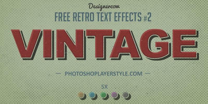 Vintage Retro Text Effect
