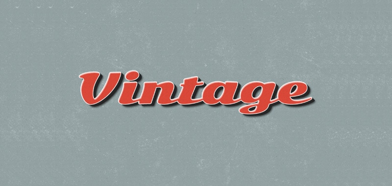 Vintage Type Effects for Photoshop