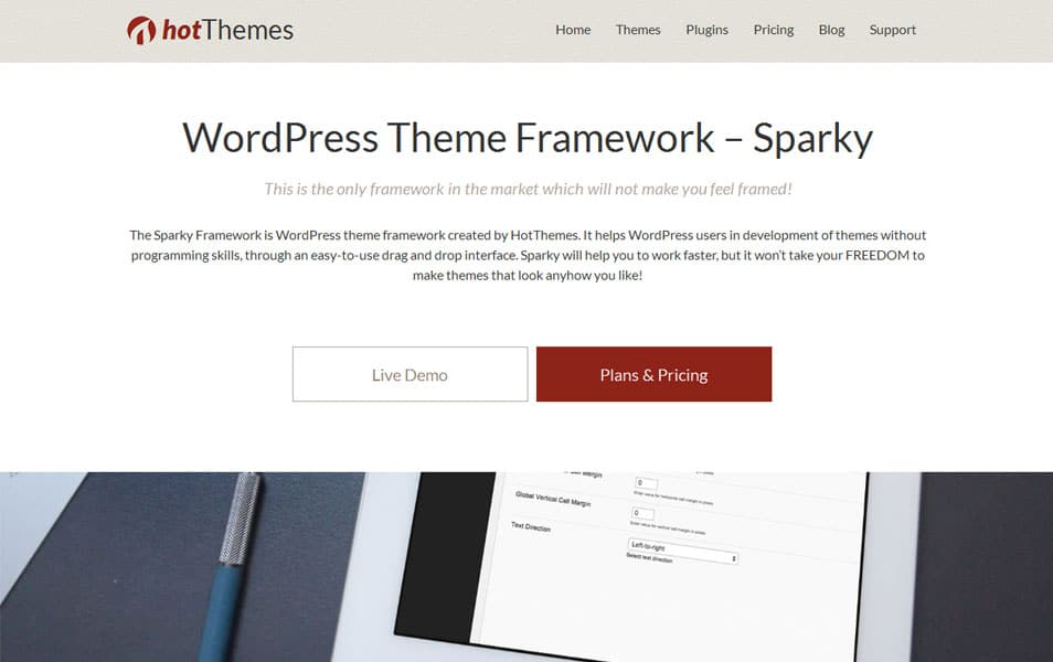 WordPress Theme Framework – Sparky