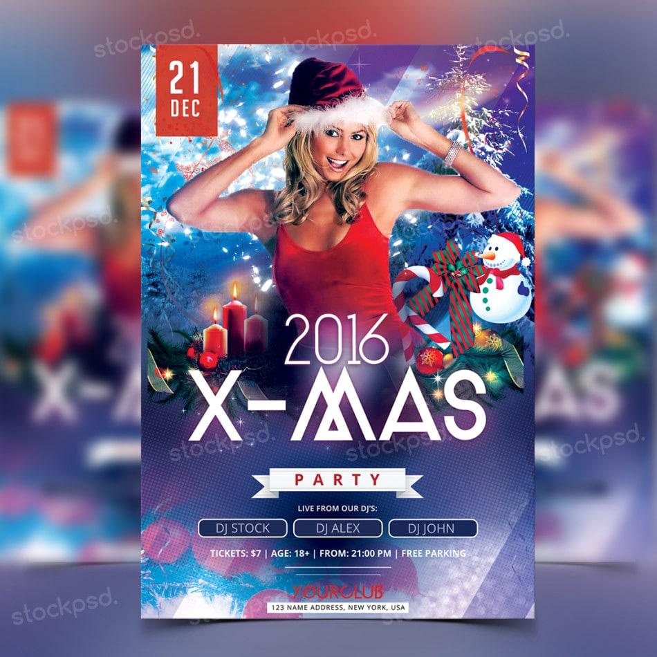 X-Mas Party Flyer PSD