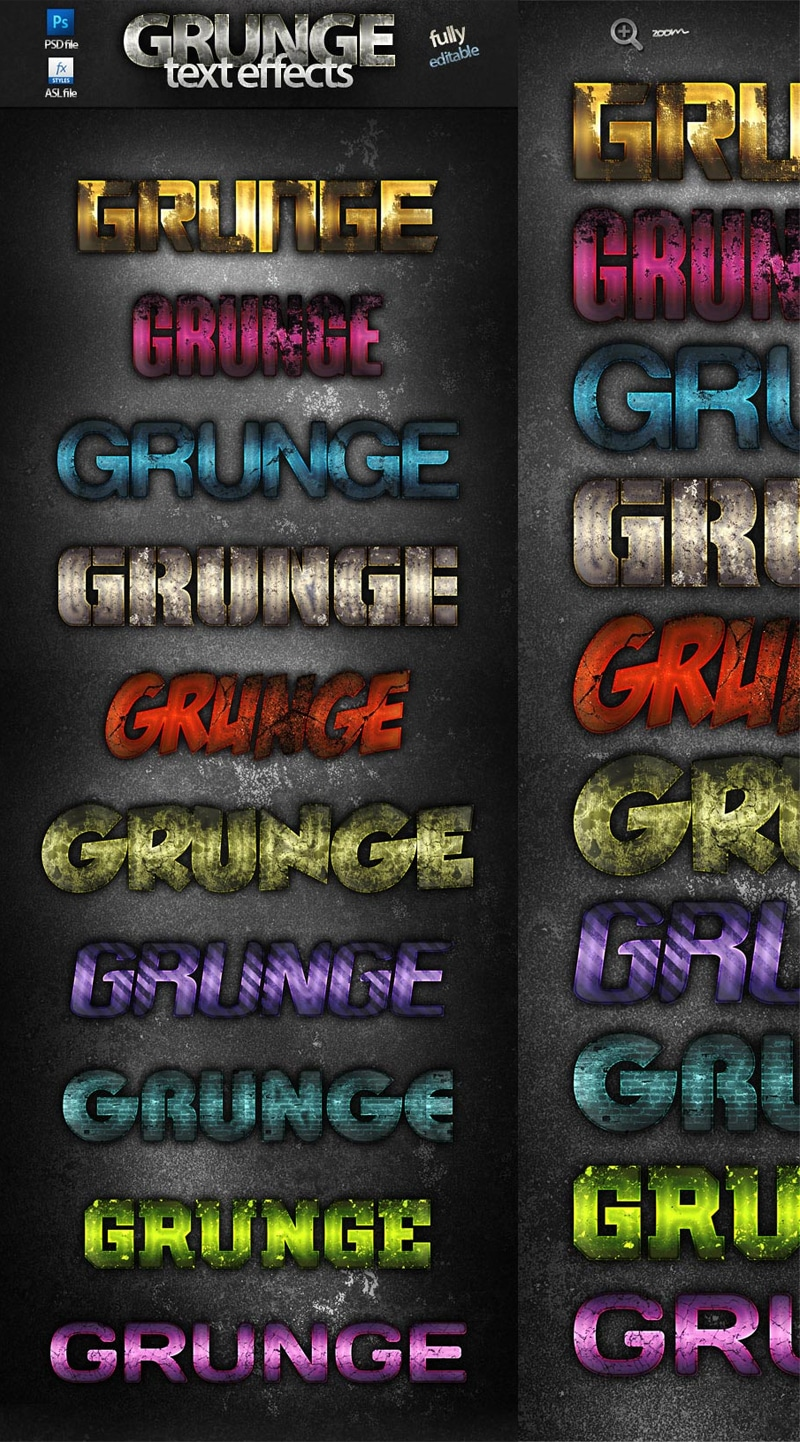 photoshop grunge text effects