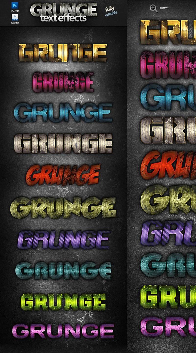 photoshop grunge text effects
