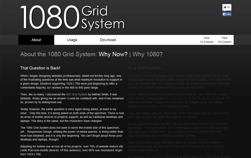 1080 Grid System