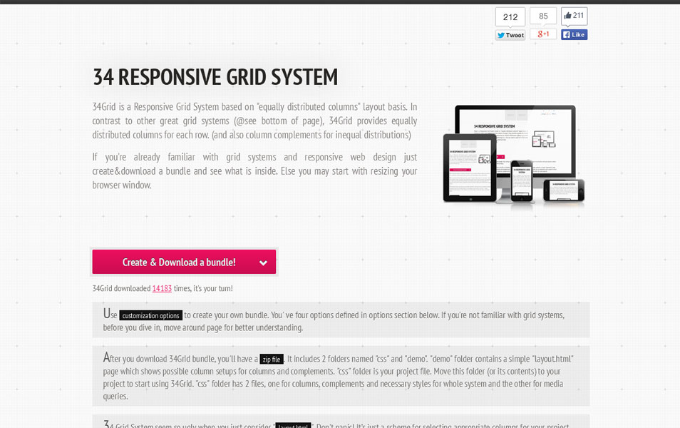34 Responsive Grid System