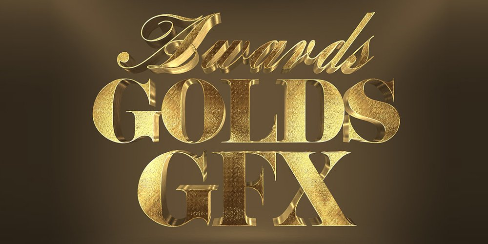 3D Gold Text Effect PSD