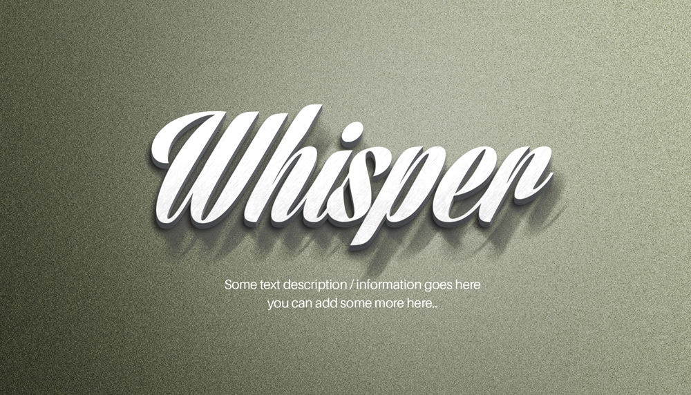3D Metal Text Effect PSD