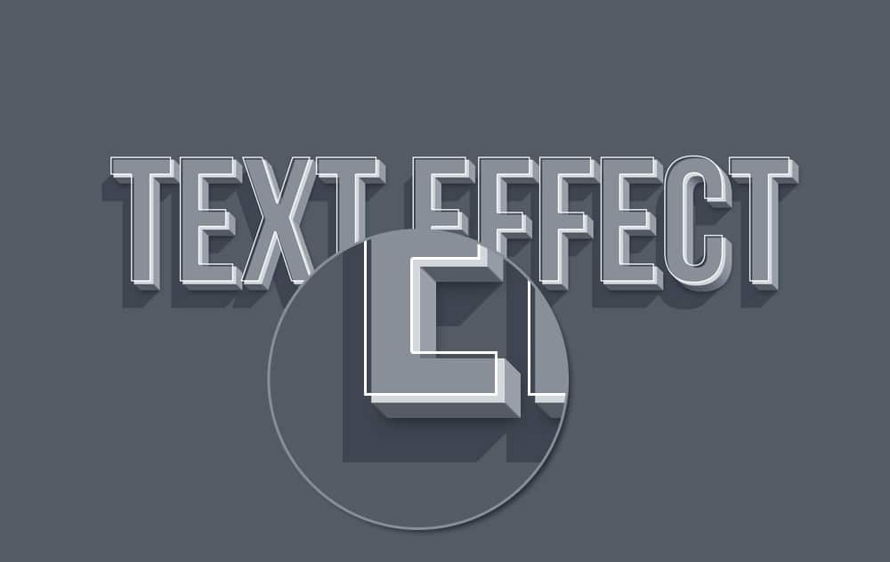 3D Smart Object Text Effect PSD
