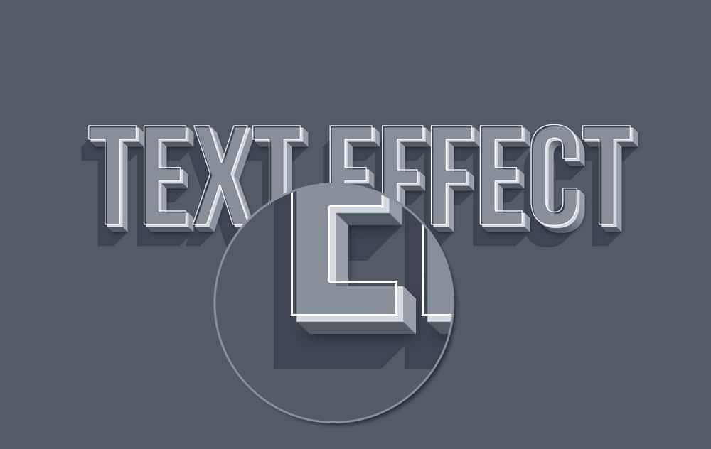 3D Smart Object Text Effect PSD