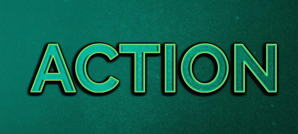 Action Text Effect PSD