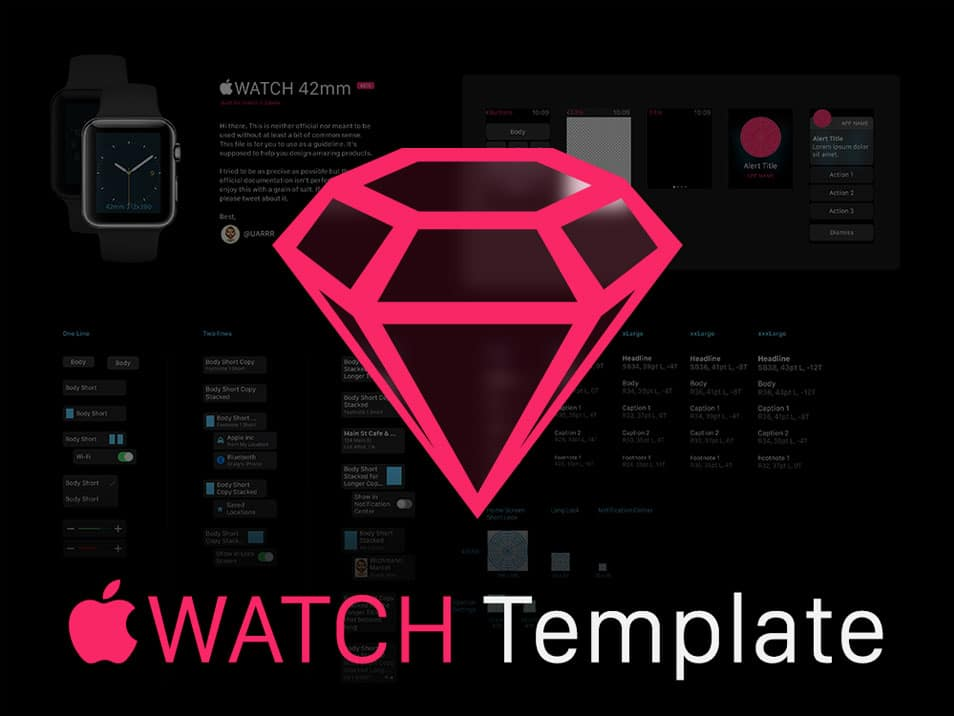 Apple Watch GUI Sketch Template