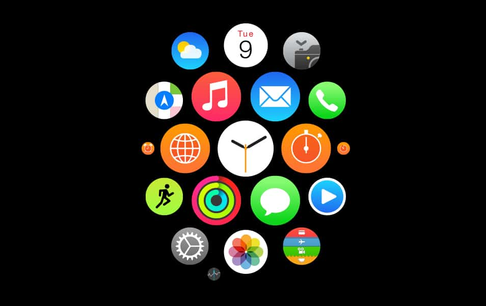 Apple Watch Homescreen Icons (Vector)