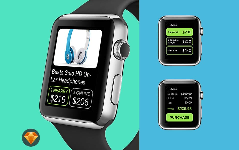 Apple Watch Mobile Local Commerce UI
