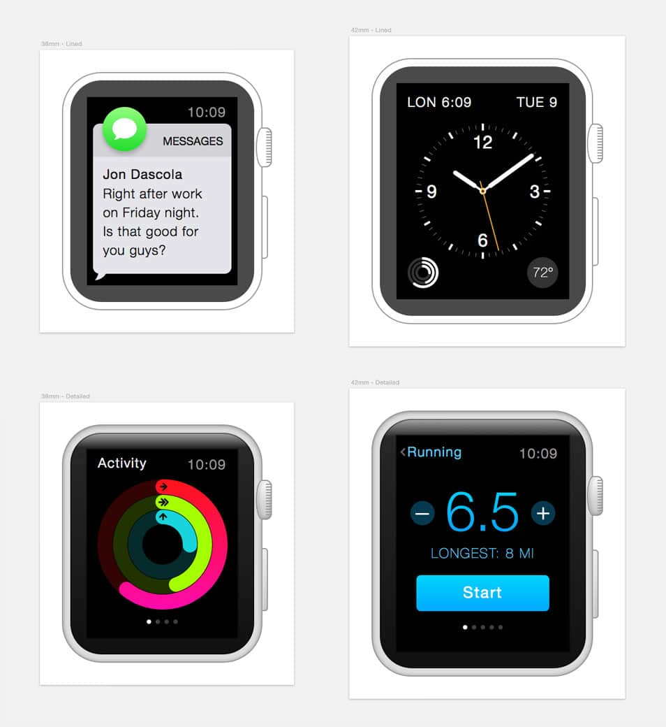 Apple Watch Sketch Freebie