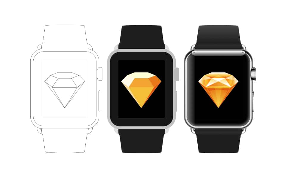 Apple Watch Sketch Mockup