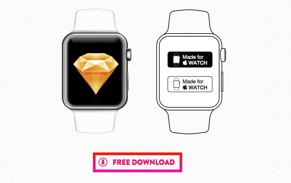 Apple Watch Sketch Template