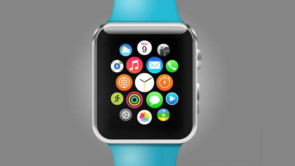 Apple Watch Sport PSD