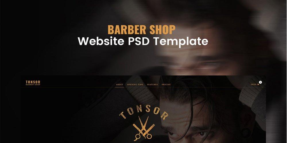 Barber Shop Web Template PSD