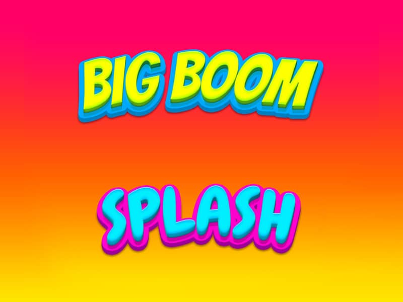 Big Boom and Splash Text Styles PSD