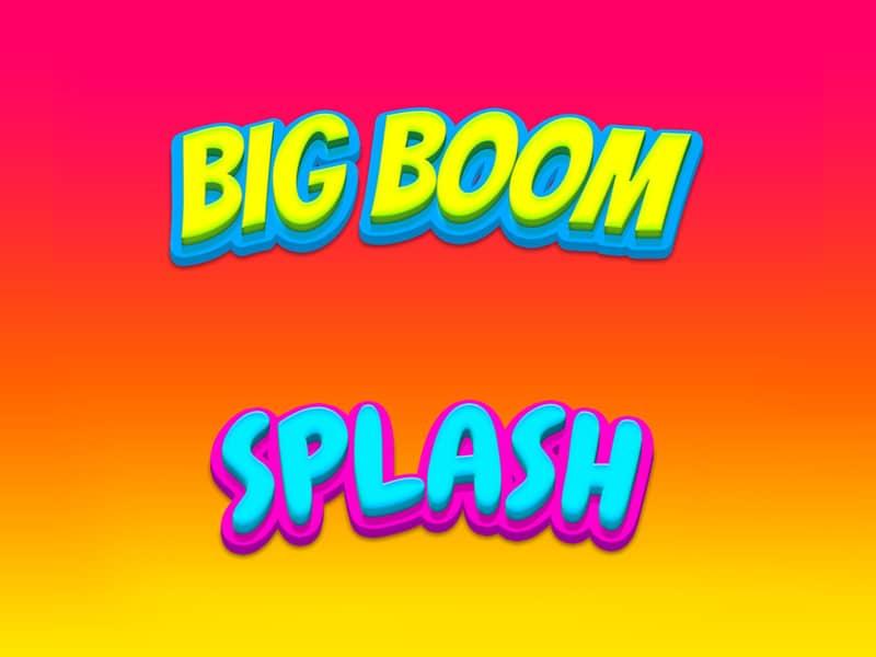 Big Boom and Splash Text Styles PSD