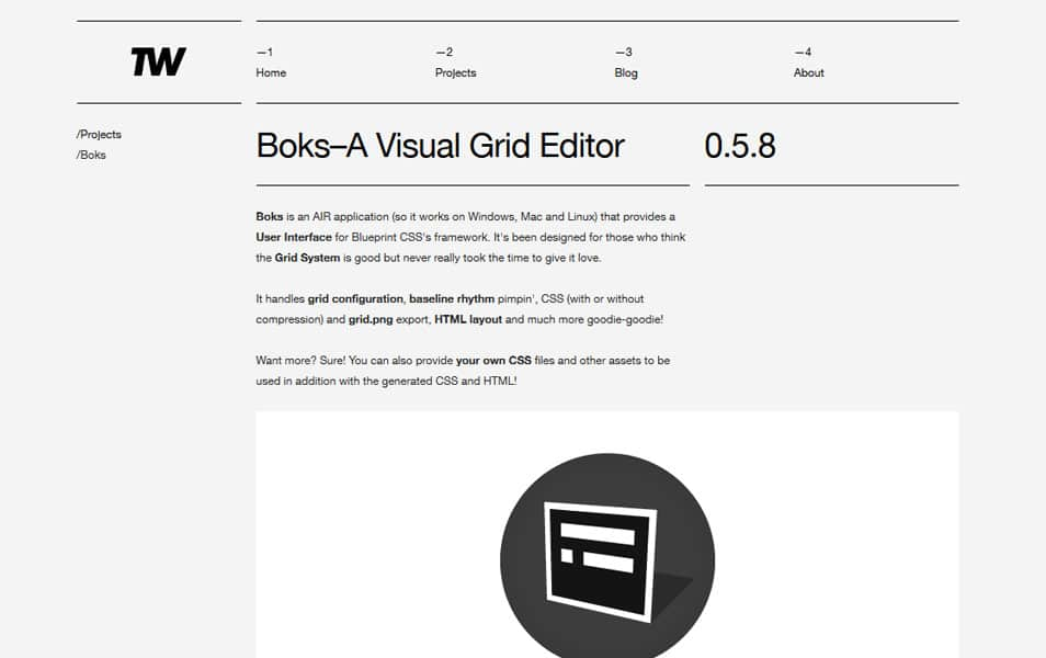 Boks – A Visual Grid Editor