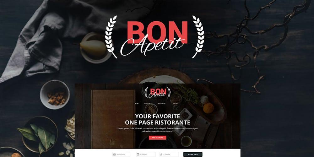 Bon Apetit Free Web Template for Restaurants